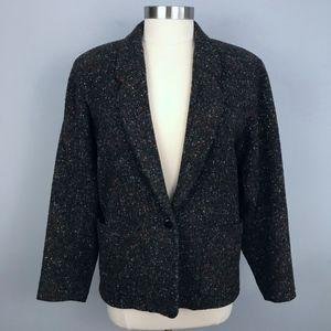 Kenzo Vintage 70's Boucle Wool Blazer Medium M